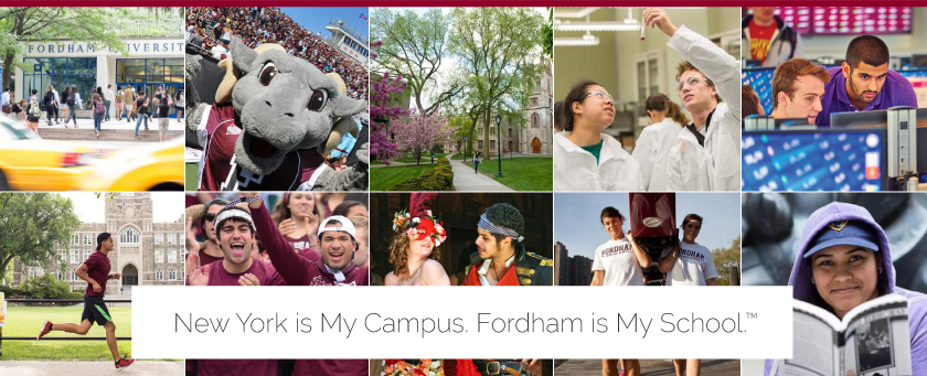 New York is My Campus. Fordham is My School.